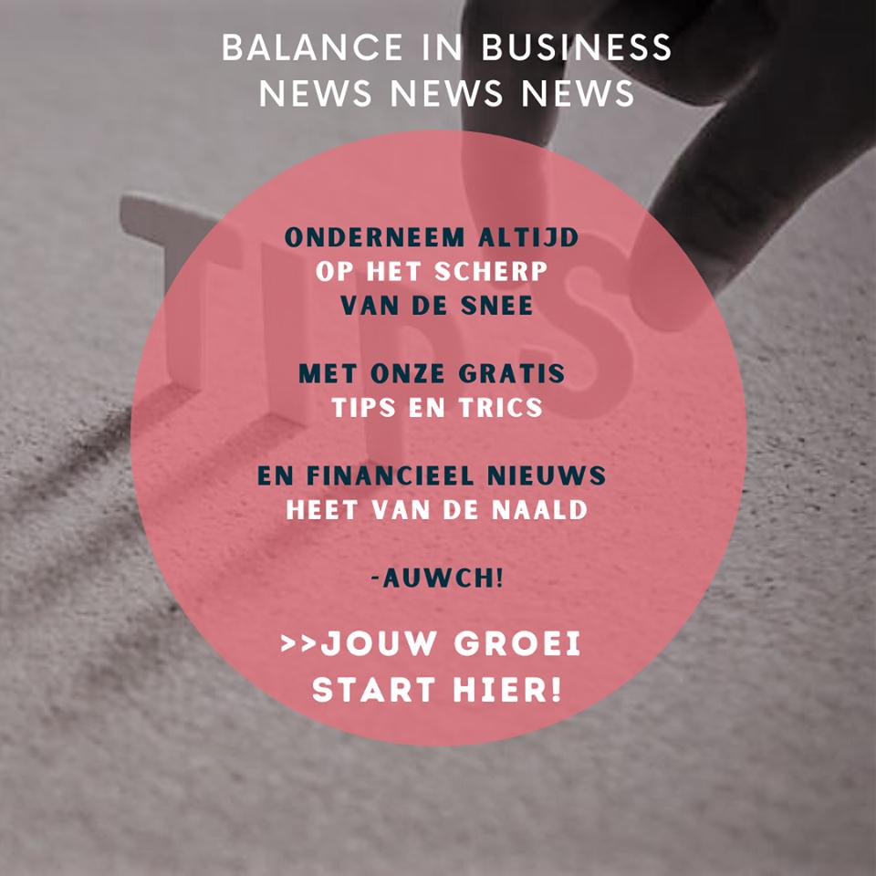 Teken in op de nieuwsbrief Balance in Business
